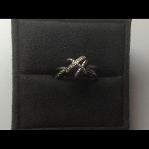 David Yurman Amethyst Wrap Ring Sz 8